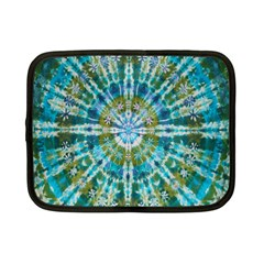 Green Flower Tie Dye Kaleidoscope Opaque Color Netbook Case (small)  by Mariart