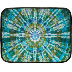 Green Flower Tie Dye Kaleidoscope Opaque Color Double Sided Fleece Blanket (mini)  by Mariart