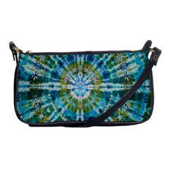 Green Flower Tie Dye Kaleidoscope Opaque Color Shoulder Clutch Bags by Mariart