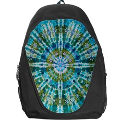 Green Flower Tie Dye Kaleidoscope Opaque Color Backpack Bag by Mariart