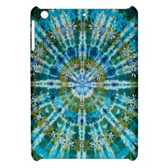 Green Flower Tie Dye Kaleidoscope Opaque Color Apple Ipad Mini Hardshell Case by Mariart
