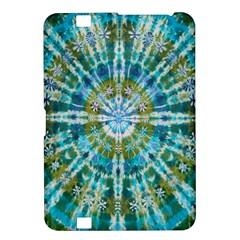 Green Flower Tie Dye Kaleidoscope Opaque Color Kindle Fire Hd 8 9  by Mariart