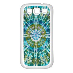 Green Flower Tie Dye Kaleidoscope Opaque Color Samsung Galaxy S3 Back Case (white) by Mariart