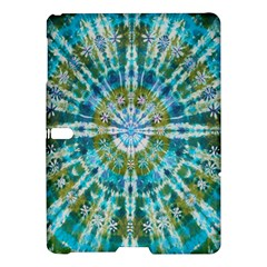 Green Flower Tie Dye Kaleidoscope Opaque Color Samsung Galaxy Tab S (10 5 ) Hardshell Case  by Mariart