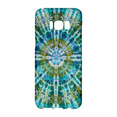 Green Flower Tie Dye Kaleidoscope Opaque Color Samsung Galaxy S8 Hardshell Case  by Mariart