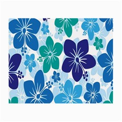 Hibiscus Flowers Green Blue White Hawaiian Small Glasses Cloth (2-Side) by Mariart