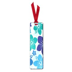 Hibiscus Flowers Green Blue White Hawaiian Small Book Marks by Mariart