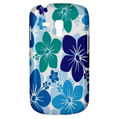 Hibiscus Flowers Green Blue White Hawaiian Galaxy S3 Mini by Mariart