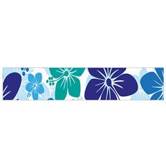 Hibiscus Flowers Green Blue White Hawaiian Flano Scarf (small) by Mariart