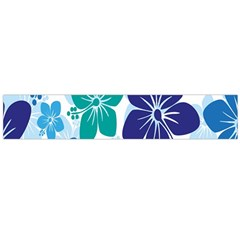 Hibiscus Flowers Green Blue White Hawaiian Flano Scarf (large) by Mariart