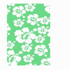 Hibiscus Flowers Green White Hawaiian Large Garden Flag (two Sides) by Mariart