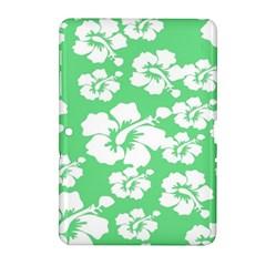 Hibiscus Flowers Green White Hawaiian Samsung Galaxy Tab 2 (10 1 ) P5100 Hardshell Case  by Mariart