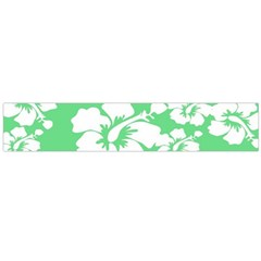 Hibiscus Flowers Green White Hawaiian Flano Scarf (large) by Mariart