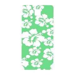Hibiscus Flowers Green White Hawaiian Samsung Galaxy Alpha Hardshell Back Case by Mariart