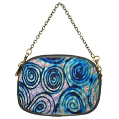 Green Blue Circle Tie Dye Kaleidoscope Opaque Color Chain Purses (two Sides)  by Mariart