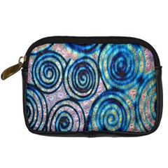 Green Blue Circle Tie Dye Kaleidoscope Opaque Color Digital Camera Cases by Mariart