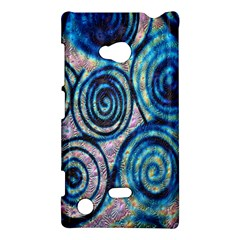 Green Blue Circle Tie Dye Kaleidoscope Opaque Color Nokia Lumia 720 by Mariart