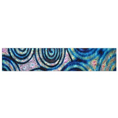 Green Blue Circle Tie Dye Kaleidoscope Opaque Color Flano Scarf (small) by Mariart