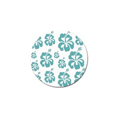 Hibiscus Flowers Green White Hawaiian Blue Golf Ball Marker (10 Pack) by Mariart