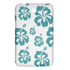 Hibiscus Flowers Green White Hawaiian Blue Samsung Galaxy Tab 3 (7 ) P3200 Hardshell Case  by Mariart