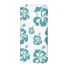 Hibiscus Flowers Green White Hawaiian Blue Samsung Galaxy S8 Hardshell Case  by Mariart