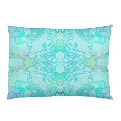 Green Tie Dye Kaleidoscope Opaque Color Pillow Case by Mariart