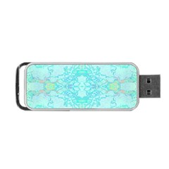 Green Tie Dye Kaleidoscope Opaque Color Portable Usb Flash (one Side) by Mariart