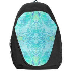 Green Tie Dye Kaleidoscope Opaque Color Backpack Bag by Mariart