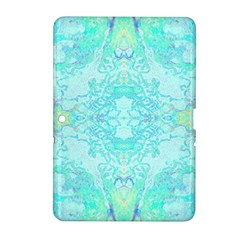 Green Tie Dye Kaleidoscope Opaque Color Samsung Galaxy Tab 2 (10 1 ) P5100 Hardshell Case  by Mariart