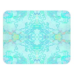 Green Tie Dye Kaleidoscope Opaque Color Double Sided Flano Blanket (large)  by Mariart