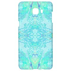 Green Tie Dye Kaleidoscope Opaque Color Samsung C9 Pro Hardshell Case  by Mariart