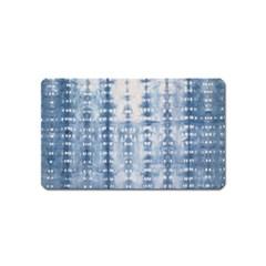Indigo Grey Tie Dye Kaleidoscope Opaque Color Magnet (name Card) by Mariart
