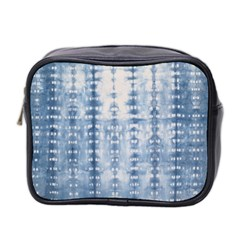 Indigo Grey Tie Dye Kaleidoscope Opaque Color Mini Toiletries Bag 2 Side by Mariart