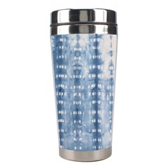 Indigo Grey Tie Dye Kaleidoscope Opaque Color Stainless Steel Travel Tumblers by Mariart