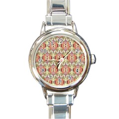 Illustrator Photoshop Watercolor Ink Gouache Color Pencil Round Italian Charm Watch by Mariart