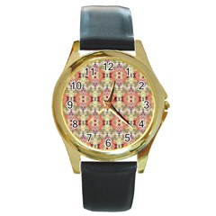 Illustrator Photoshop Watercolor Ink Gouache Color Pencil Round Gold Metal Watch by Mariart