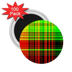 Line Light Neon Red Green 2 25  Magnets (100 Pack)  by Mariart
