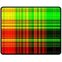 Line Light Neon Red Green Fleece Blanket (medium)  by Mariart