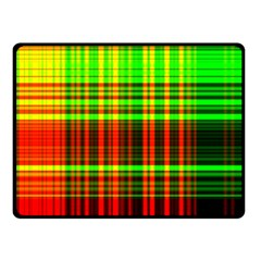 Line Light Neon Red Green Fleece Blanket (small) by Mariart