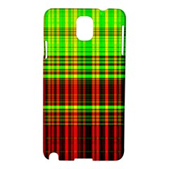 Line Light Neon Red Green Samsung Galaxy Note 3 N9005 Hardshell Case by Mariart
