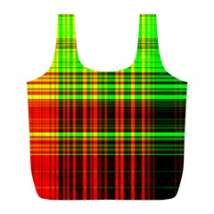 Line Light Neon Red Green Full Print Recycle Bags (l)  by Mariart