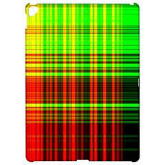 Line Light Neon Red Green Apple iPad Pro 12.9   Hardshell Case by Mariart