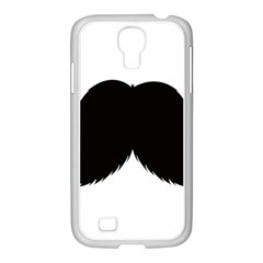 Mustache Owl Hair Black Man Samsung Galaxy S4 I9500/ I9505 Case (white) by Mariart