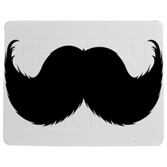Mustache Owl Hair Black Man Jigsaw Puzzle Photo Stand (rectangular) by Mariart