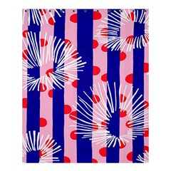 Line Vertical Polka Dots Circle Flower Blue Pink White Shower Curtain 60  X 72  (medium)  by Mariart