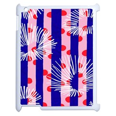 Line Vertical Polka Dots Circle Flower Blue Pink White Apple Ipad 2 Case (white) by Mariart