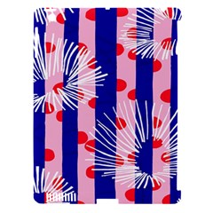 Line Vertical Polka Dots Circle Flower Blue Pink White Apple Ipad 3/4 Hardshell Case (compatible With Smart Cover) by Mariart