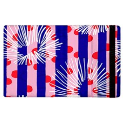 Line Vertical Polka Dots Circle Flower Blue Pink White Apple Ipad 3/4 Flip Case by Mariart