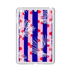 Line Vertical Polka Dots Circle Flower Blue Pink White Ipad Mini 2 Enamel Coated Cases by Mariart