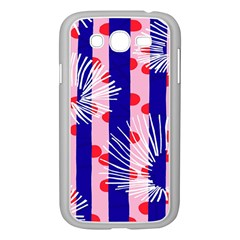 Line Vertical Polka Dots Circle Flower Blue Pink White Samsung Galaxy Grand Duos I9082 Case (white) by Mariart